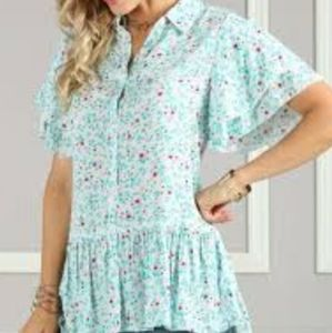 Suzanne Betro ditty floral button down size large